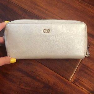 Cole Hann pearl leather wallet